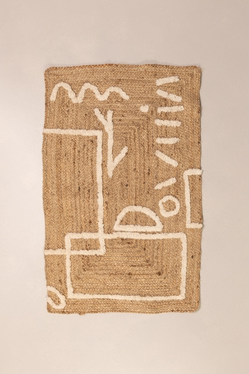 Jute and Cotton Rug (110x70 cm) Dudle