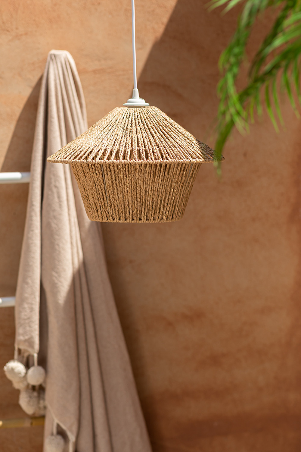 Jous Braided Paper Ceiling Lamp, gallery image 1