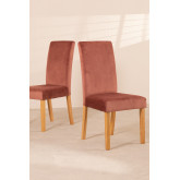 Pack of 2 Velvet Dining Chairs Cindy , thumbnail image 2