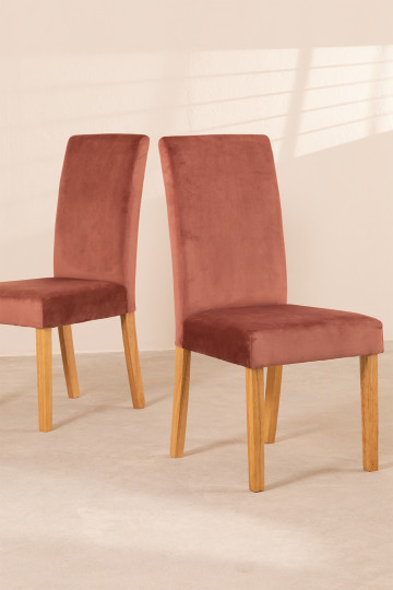 Pack of 2 Velvet Dining Chairs Cindy