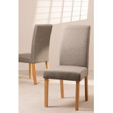 Pack of 2 Cindy Fabric Dining Chairs, thumbnail image 1