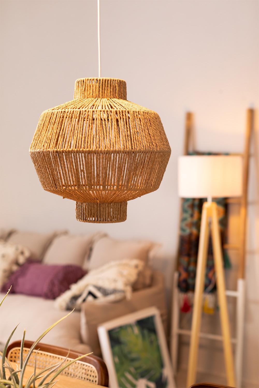 Amaris Braided Paper Ceiling Lamp, gallery image 1