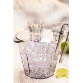 Brenda Acrylic Ice Bucket with Tongs Set, thumbnail image 1