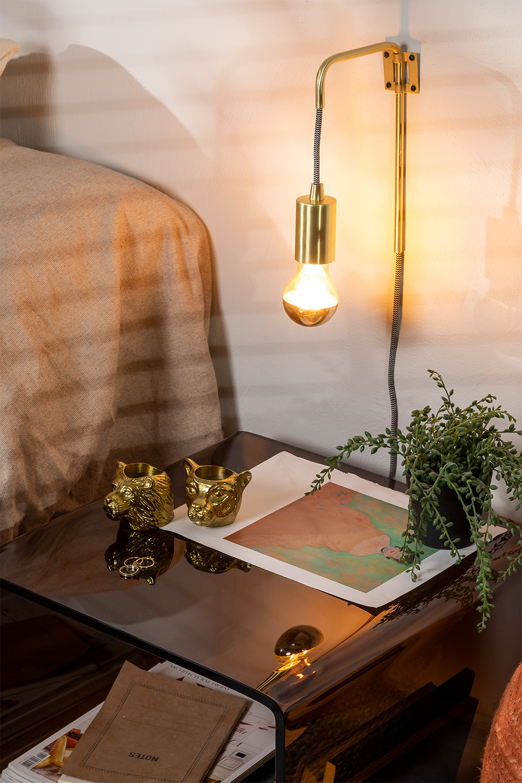 Alli Metallic Wall Sconce, gallery image 1