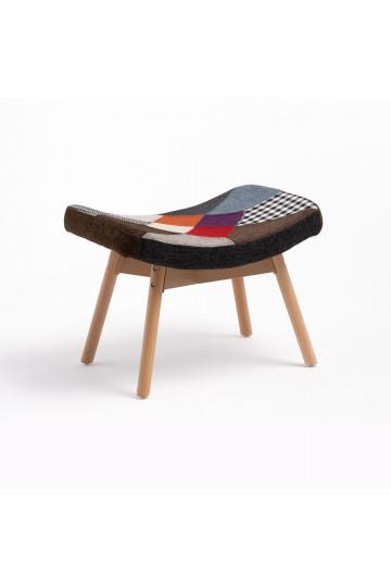 Morris Patchwork Upholstered Footrest Stool