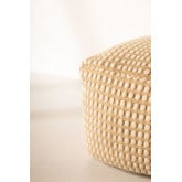 Square Jute and Cotton Puff Fuo, thumbnail image 4