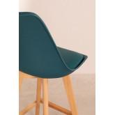 Pack 4 Medium Stools with Upholstered Cushion Nordic SK , thumbnail image 4