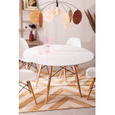 Ø120 MDF Brich Scand Table, thumbnail image 4