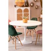 Round MDF & Metal Dining Table Tuhl  (Ø90 cm) , thumbnail image 1