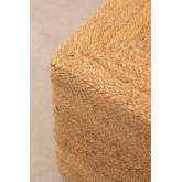Natural Jute Square  Pouffe Orsen, thumbnail image 4