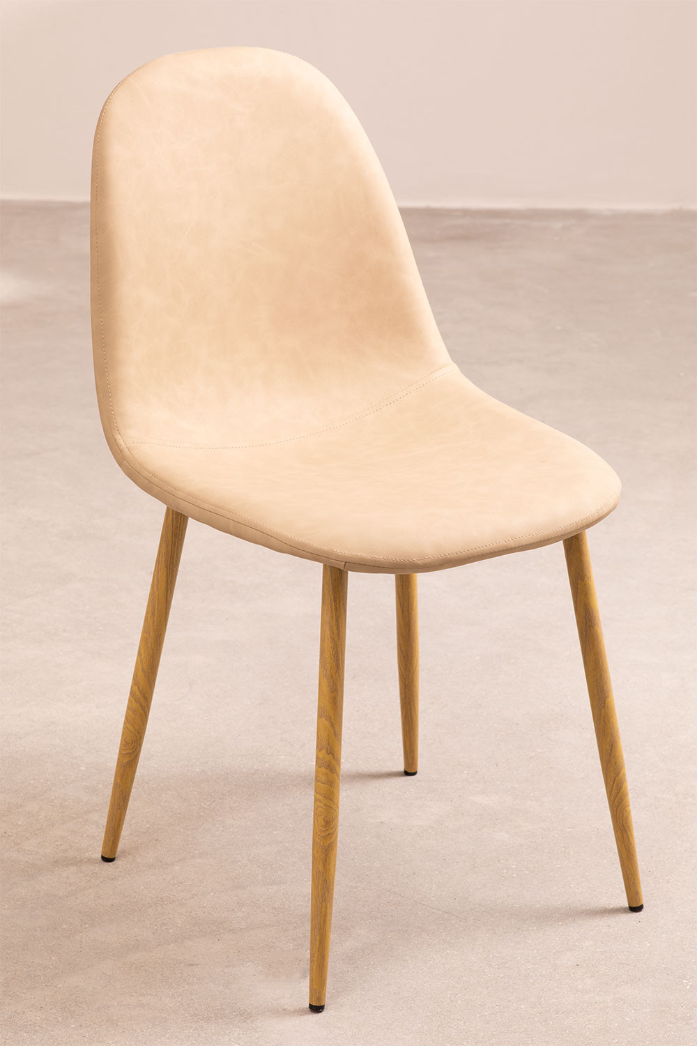 PACK of 4 Glamm Leatherette Chairs, gallery image 1
