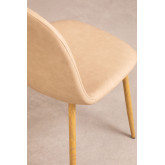 PACK of 4 Glamm Leatherette Chairs, thumbnail image 3