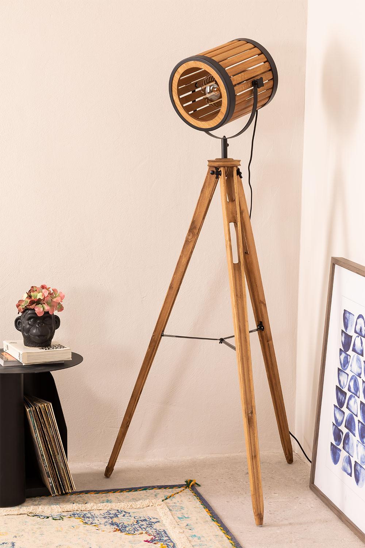 Bamboo Tripod Floor Lamp, gallery image 1