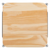 High Stool in Steel LIX Brushed Wood, thumbnail image 3