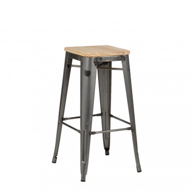 Brushed Wooden LIX Bar Stool