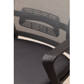 Teill Black Office Chair  on casters  with Headrest, thumbnail image 5