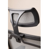 Teill Black Office Chair  on casters  with Headrest, thumbnail image 6