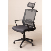 Teill Black Office Chair  on casters  with Headrest, thumbnail image 3