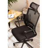 Teill Black Office Chair  on casters  with Headrest, thumbnail image 1