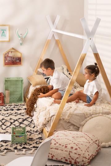 Wooden Bed for Mattress 90 cm Typi Kids