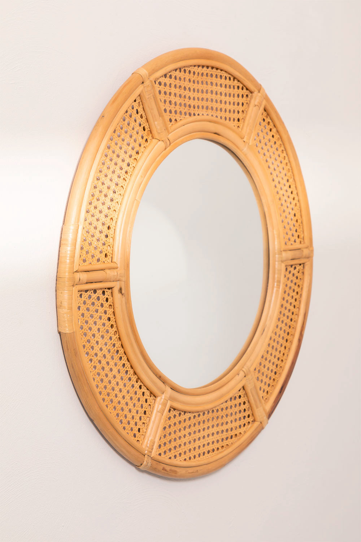 Round Rattan Wall Mirror (Ø81 cm) Lopo, gallery image 1