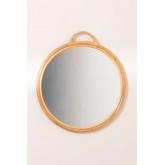 Round Rattan Wall Mirror (Ø53.5 cm) Daro, thumbnail image 2