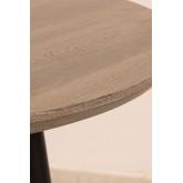 Mesa de Comedor Extensible en Madera y Acero (120 cm - 180 cm) Horus