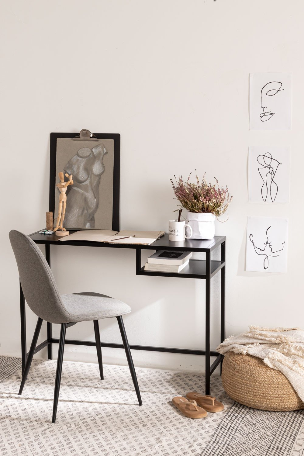 PACK of 4 Glamm Chairs in Linen, gallery image 1