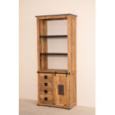 Wooden  Shelving Cabinet with 4 draws Uain , thumbnail image 2