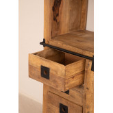 Wooden  Shelving Cabinet with 4 draws Uain , thumbnail image 4