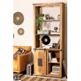 Wooden  Shelving Cabinet with 4 draws Uain , thumbnail image 1
