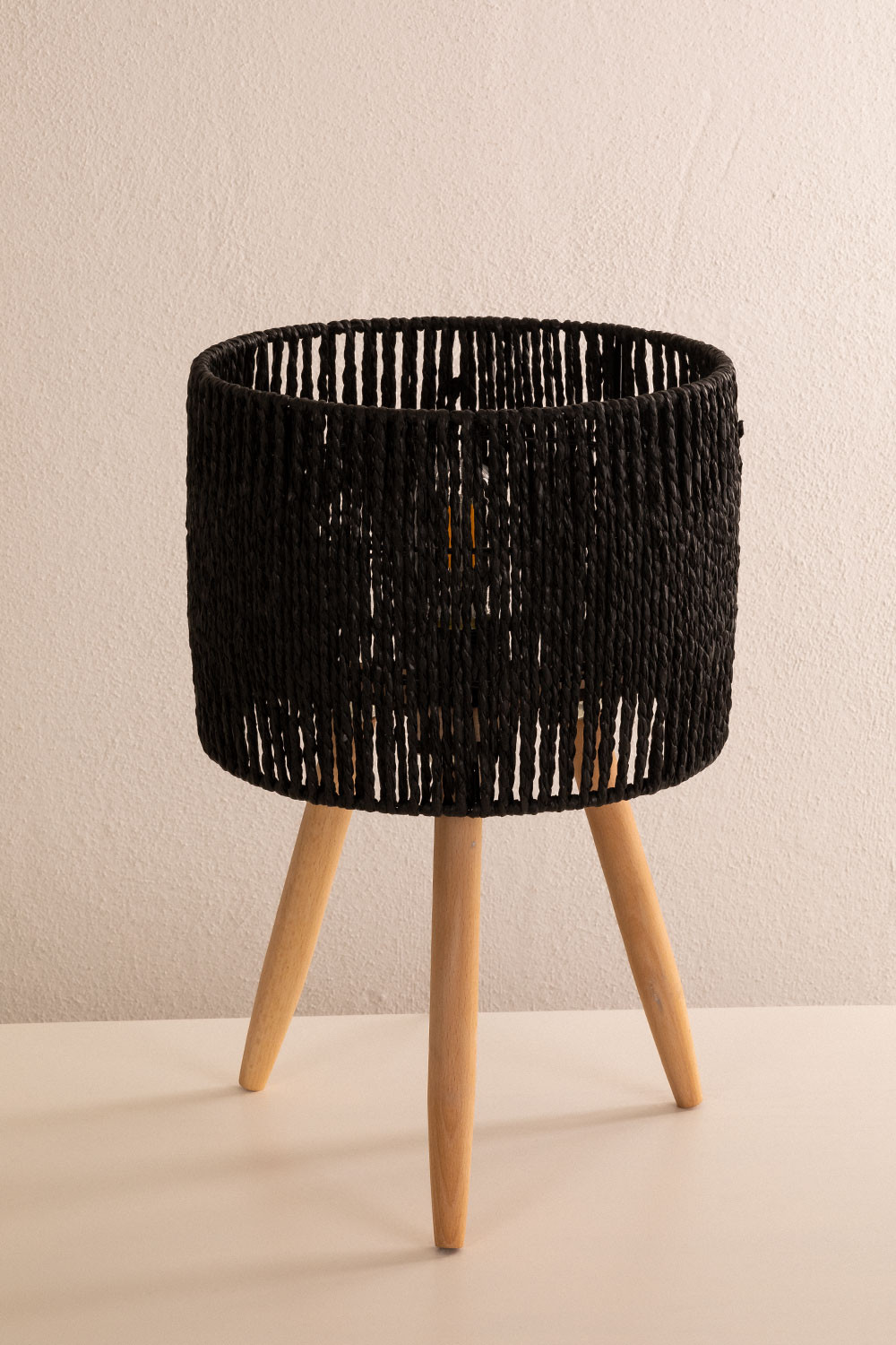 Tomas Twisted Paper Table Lamp, gallery image 1