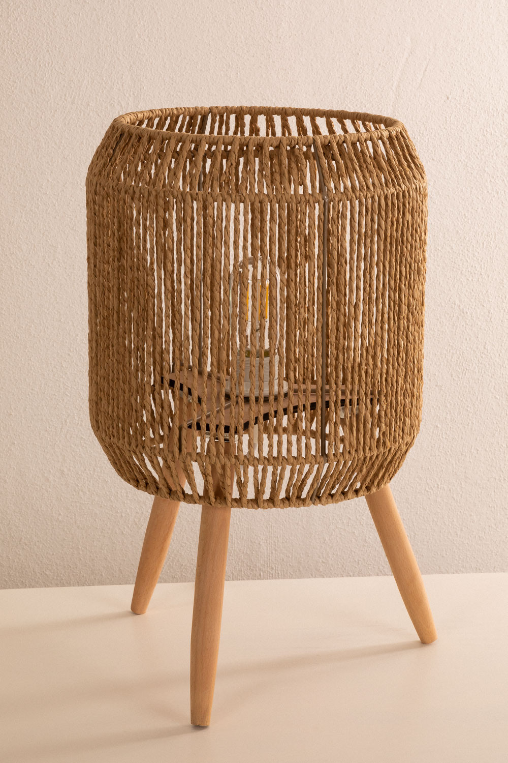 Braided Paper Table Lamp Todh, gallery image 1