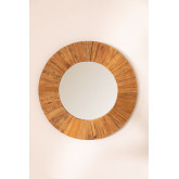 Round Wall Mirror in Recycled Wood (Ø100 cm) Rand, thumbnail image 3