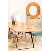 Round Wall Mirror in Recycled Wood (Ø100 cm) Rand, thumbnail image 6