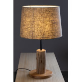 Linen Table Lamp  with  wooden stand Ulga, thumbnail image 3