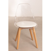 Transparent Nordic Dining Chair, thumbnail image 3