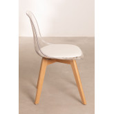 Transparent Nordic Dining Chair, thumbnail image 4