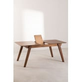Extendable Walnut Dining Table (150-180x90 cm) Aliz, thumbnail image 4