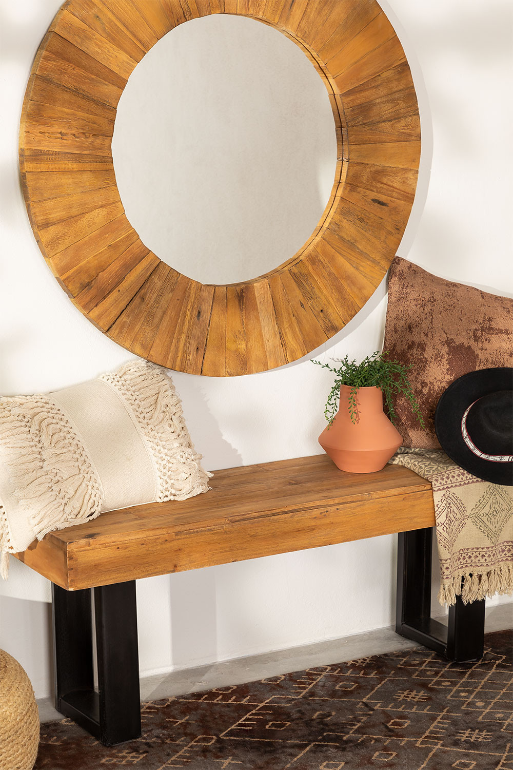 Recycled Wood Bench Bech, gallery image 1