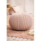Knitted Round Pouffe Greicy , thumbnail image 1
