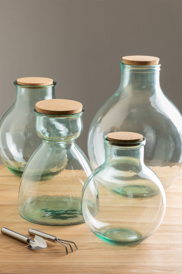 Madox Clear Recycled Glass Jar