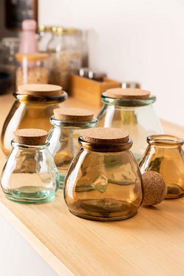 Malcom Recycled Glass Jar
