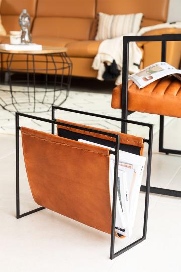 Zaila Leather Magazine Rack