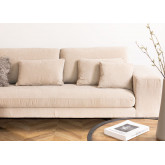 4 Seater Chenilla Chaise Longue Sofa Agon , thumbnail image 2