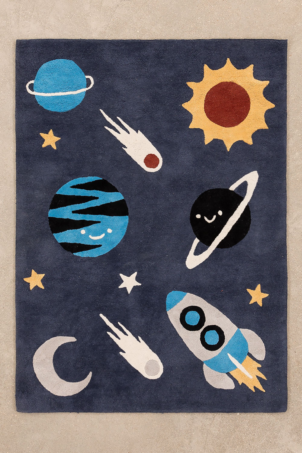 Cotton Rug (140x100 cm) Space Kids, gallery image 1