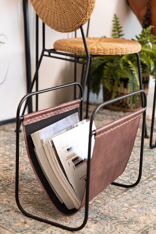 Leather Magazine Rack Cayna, gallery image 1