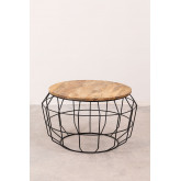 Round Coffee Table in Recycled Wood and Steel (Ø72 cm) Koti, thumbnail image 2