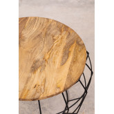 Round Coffee Table in Recycled Wood and Steel (Ø72 cm) Koti, thumbnail image 3