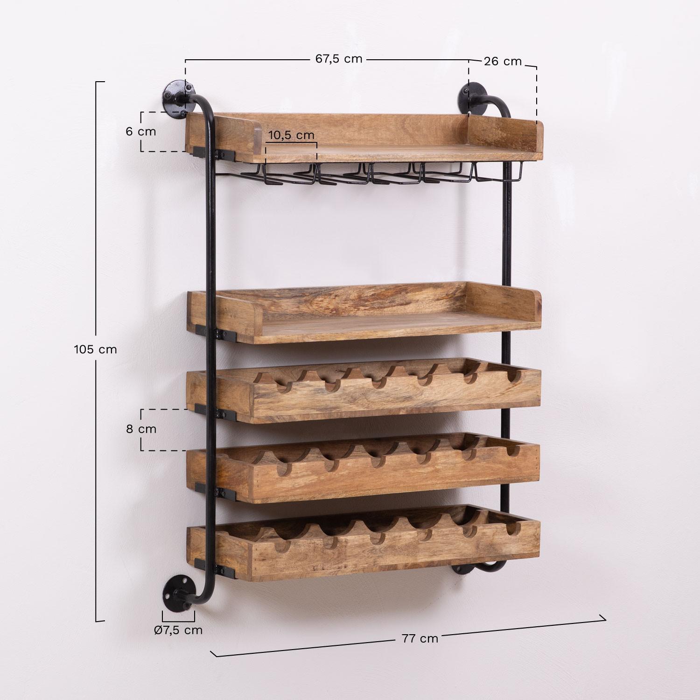 wenni wood wall wine rack